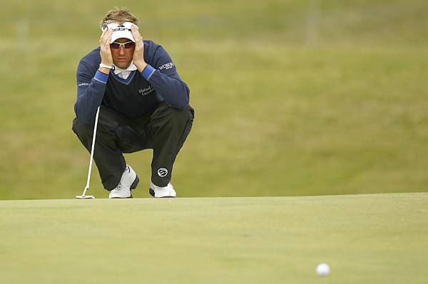 Ian Poulter birdied two of the last three holes to finish with a 69.