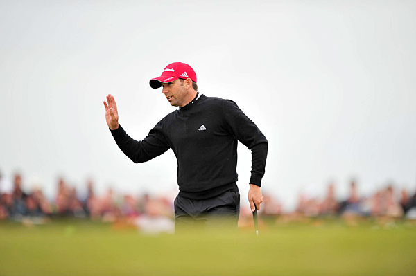 Sergio Garcia bogeyed two of the last three holes for an even-par 70.
