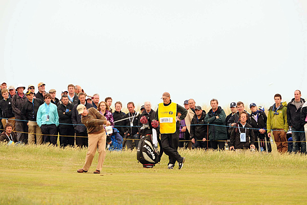 Tom Watson is 61 years old, but he still knows how to play links golf. The five-time Open champion shot a 2-over 72.