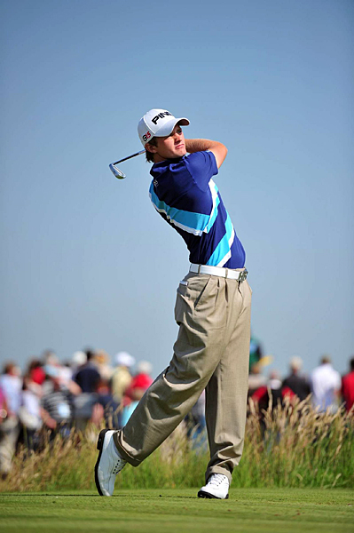 Tom Lewis started the day tied for the lead, but he fell back after a four-over 74.