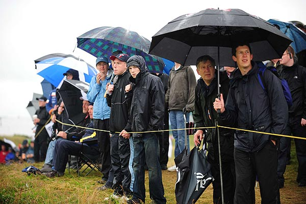 Neither rain nor wind could keep the fans away from Royal Birkdale.