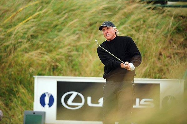 Greg Norman finished one stroke off the lead at even par.