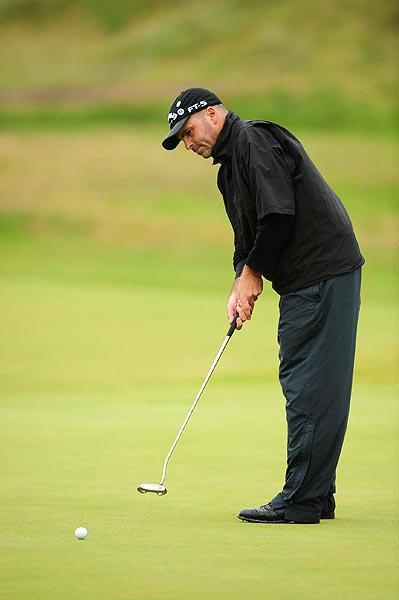 Rocco Mediate moved back to two over par in the second round.