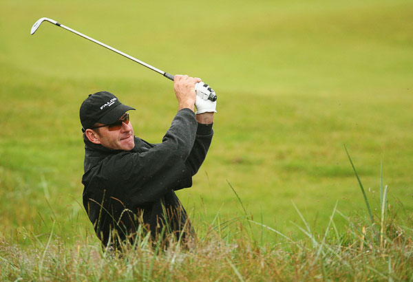 Nick Faldo, who won the Open in 1987, 1990 and 1992, had a rough day, shooting a seven-over 78.