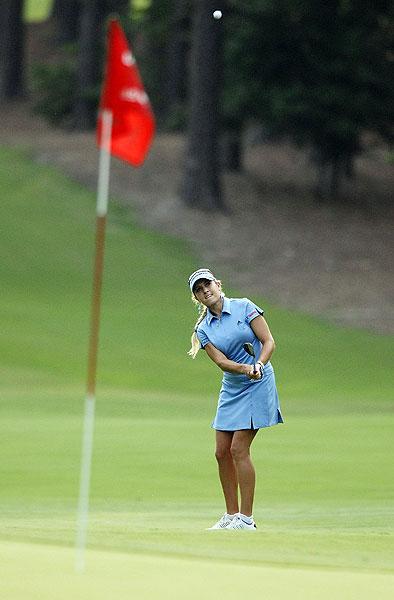 Natalie Gulbis finished the U.S. Women's Open at nine over par.
