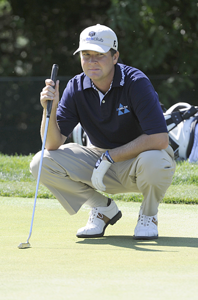 started the day tied for the lead, but he stumbled to a 4-over 74.