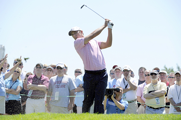 is three shots back after a 68.