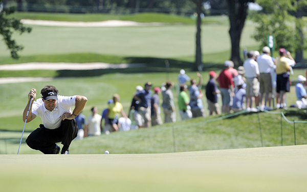 shot even par with two birdies and a double bogey.