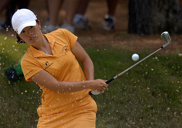 Angela Park went birdie-bogey-birdie on the first three holes. She finished two strokes off the lead in second place.