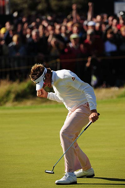 Poulter sunk the putt to finish at seven over par, which was eventually good for second place.