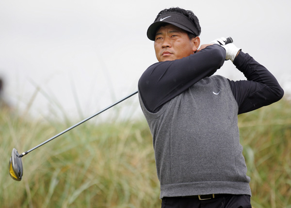 K.J. Choi played a steady round of even-par 71 to finish three under.