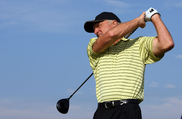 First Round of the Senior British Open                           Greg Norman, coming off a T3 at the British Open, bogeyed five of his first eight holes. But he made two birdies on the back nine to shoot a four-over 75.