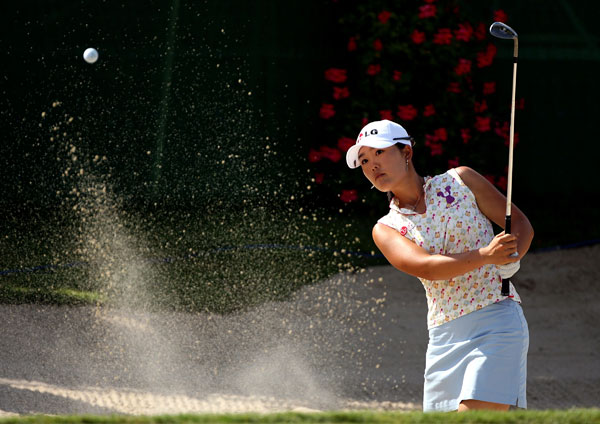 Angela Park made birdies on 17 and 18 to grab a one-shot lead.