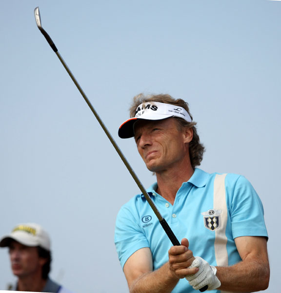 Bernhard Langer made all pars on the back nine for a 71.