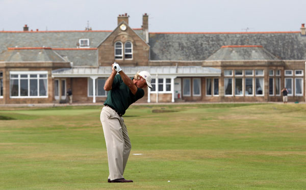 Third Round of the Senior British Open                           Greg Norman shot a bogey-free 67.