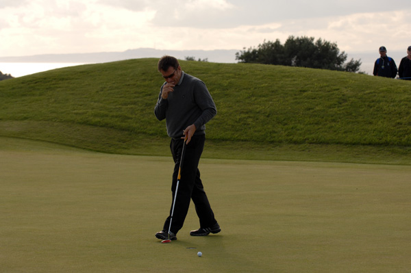 Faldo lost his putting touch and slipped to sixth.