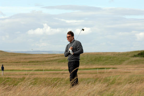 Nick Faldo didn't make one par in the first five holes.