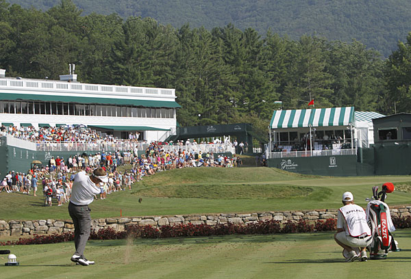 Stuart Appleby missed the cut a year after shooting a 59 to win at the Greenbrier.