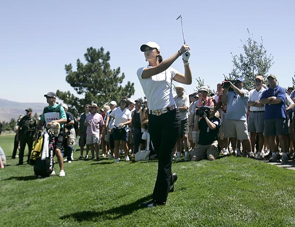 First Round of the Legends Reno-Tahoe Open                                              Michelle Wie shot a 1-over 73 in her first round.