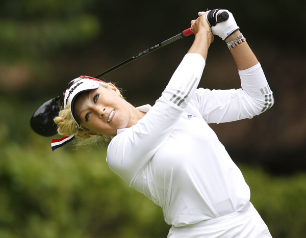 Natalie Gulbis made two birdies for a 69.