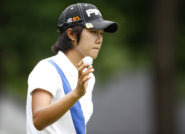 Song-Hee Kim moved into a tie for second with a seven-under 64.