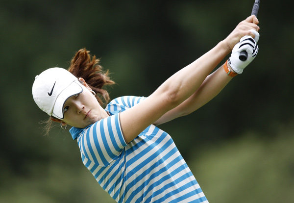 Michelle Wie made three birdies on the back nine to shoot 70.