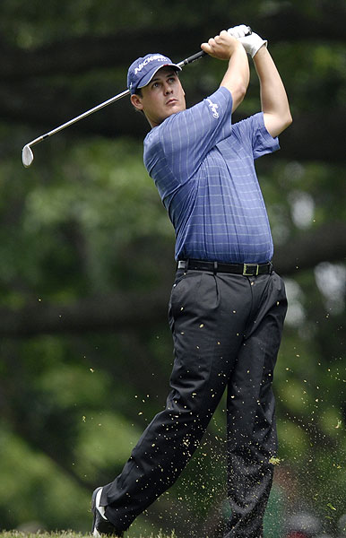 """Jeff Quinney shot an opening-round 67. """"As long as you hit the fairways, it's not that bad because the greens are receptive and you can pretty much throw anything at the hole and it's going to stop,"""" he said."""