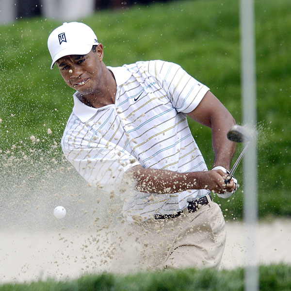 """Tiger Woods got off to a rocky start at his own tournament with back-to-back bogeys. He ended his round at three over par. """"I worked so hard at the U.S. Open feeding putts, feeding putts; and didn't practice probably as much as I probably should have last week on my putting and unfortunately it showed up glaringly,"""" he said."""