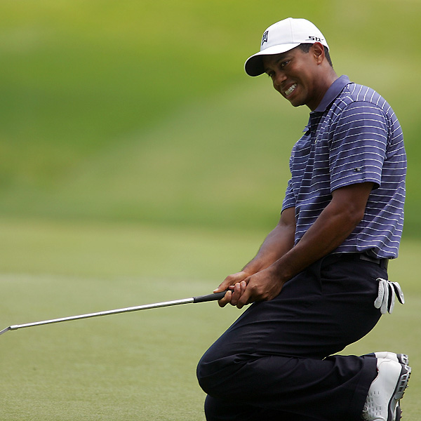 "Woods missed several short putts during the third round. ""I made a few par putts here and there, which was nice, to keep the momentum going,"" Woods said. ""But I hit so many good putts that looked like they were going to go in, but just didn't fall."""
