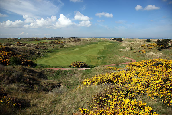 The 13th hole hole at Royal Birkdale Golf Club.