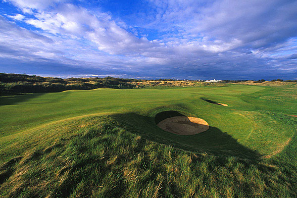 The 16th hole at Royal Birkdale Golf Club.