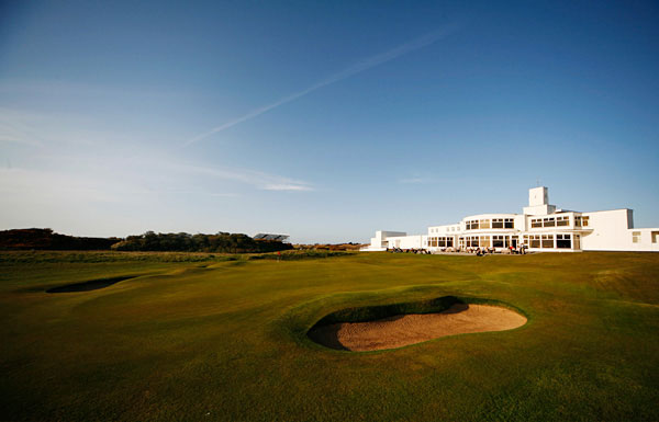 The 18th hole at Royal Birkdale Golf Club.