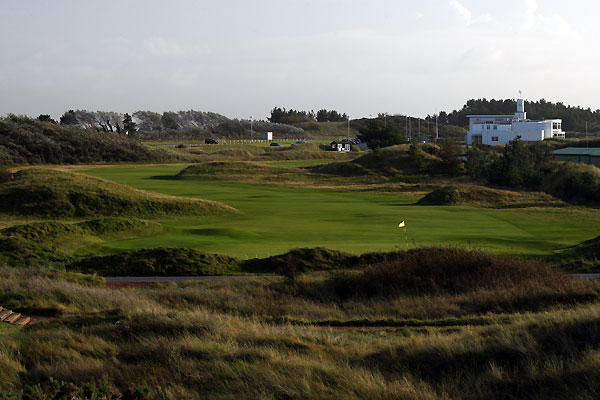 The 1st hole at Royal Birkdale Golf Club.