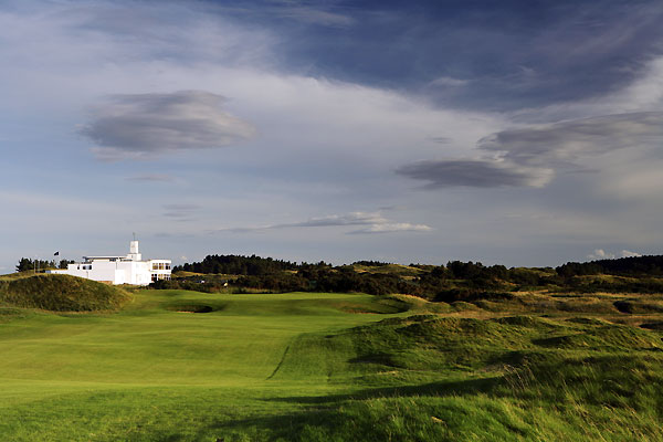 The 9th hole at Royal Birkdale Golf Club.