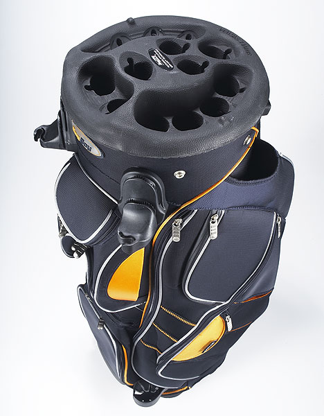 Bag Boy NXO Revolver Golf Bag                       The agonizing days of reaching over your driver to get your putter are no more! With Bag Boy's patented revolving top, you can make your clubs come to you. edwinwatts.com, $159.95