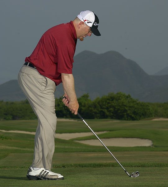 "How to Birdie Short Par 4s                       A smart tee shot gives you a chance to make 3                       By Brady Riggs                                              The Situation                       A short par 4 provides you with an opportunity for birdie — if you can hit the fairway.                                              The impulse                       ""If I crush my driver, I can get really close to the green and make 3.""                                              The Reality                       If you miss the fairway, your 3 could become a 5 — or worse.                                              What You Should Do                                              Play the percentages. Even if you hit a perfect drive, you'll still have a wedge shot to the flag from an awkward distance. Instead, play a long iron or hybrid away from the trouble and leave a full shot to the green that's easier to control and get close to the hole.                                              ELIMINATE TENSION                       Flex your knees and keep them flexed — tight legs lead to a tight swing. You should feel your weight over the balls of your feet.                                              DRAW A LINE Take time to aim correctly. Don't get carried away with avoiding the trouble — exaggerations at address usually create other swing flaws."