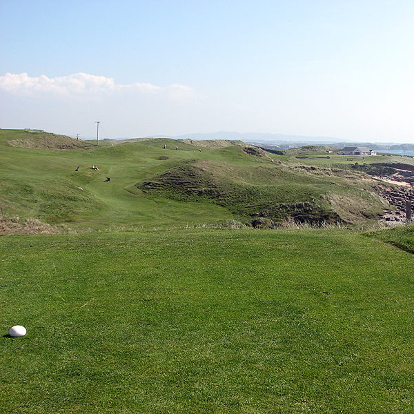 """What can I say about Cruit? I can tell you that seven out of nine holes play blind, almost unfairly so, to the point where I had no idea where I was going most of the afternoon,"" Coyne said.                                                      Course Called Ireland: Crush on Cruit Island"