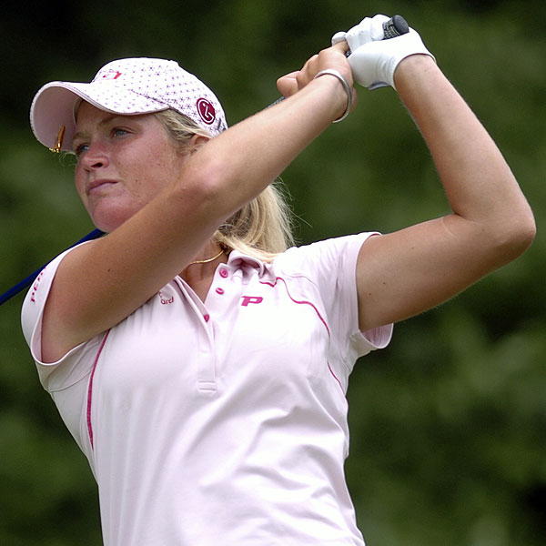 Norway's Suzann Pettersen got her second LPGA victory at the McDonald's LPGA Championship Sunday, finishing one stroke ahead of Karrie Webb.