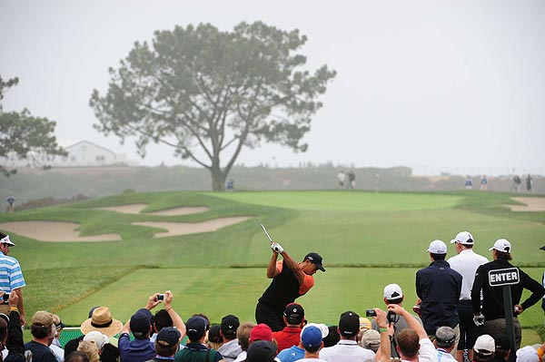 Tuesday at Torrey Pines                           Tiger Woods played the back nine on Tuesday and gave a press conference after his round.