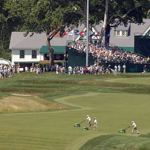 The rough at Oakmont has already been deemed too high, and had to be scaled back. It was first cut to four inches high and the other rough six to 6 1/2 inches, but now it is four inches high and 2 3/4 to five inches.                                                          • Read more about the rough at Oakmont