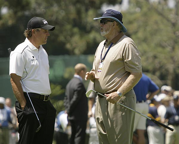 Phil Mickelson with Dave Pelz, his short-game coach and a Golf Magazine Top 100 Teacher.
