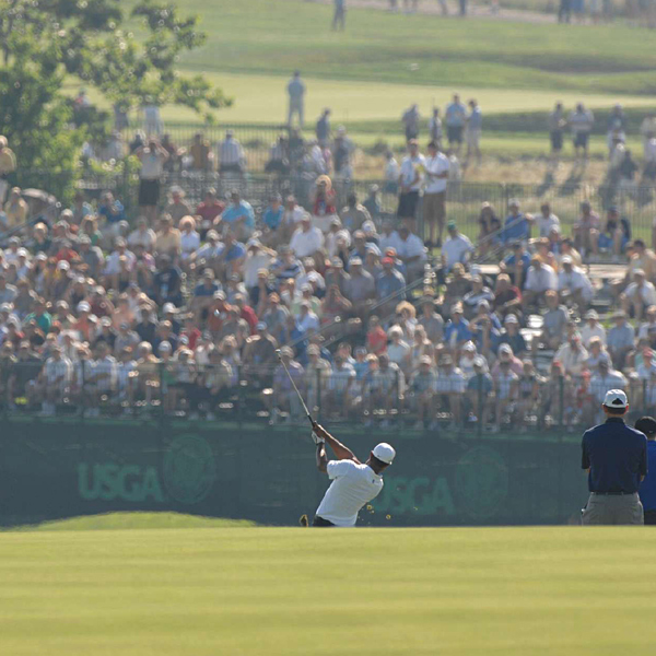 "Tiger Woods, who missed the cut at last year's Open, was on the course for another practice round Tuesday. ""The way the golf course is playing right now, you'll probably think that it's only going to get drier and faster, and get even more difficult. You're really going to have to play well from tee-to-green, and then the fun really begins,"" he said."