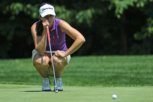 Nicole Castrale is one stroke back at 7-under par.