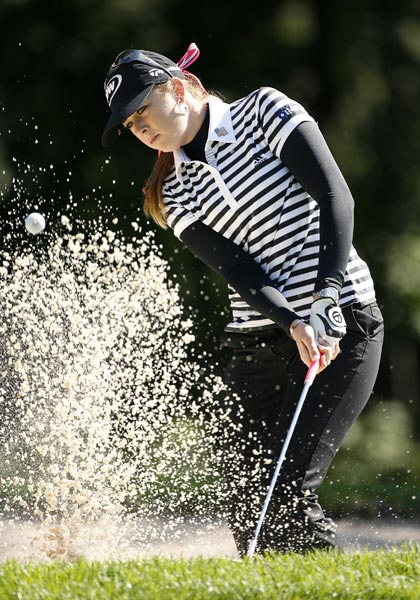 Paula Creamer shot a 2-over 74.