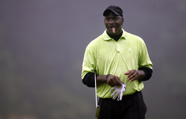 Michael Jordan isn't afraid to throw money down on the golf course.