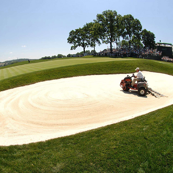 There are a total of 210 bunkers at Oakmont, reduced from a peak of 350 in the club's early days.