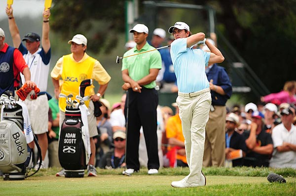 Adam Scott is also four over par after a second-round 73.