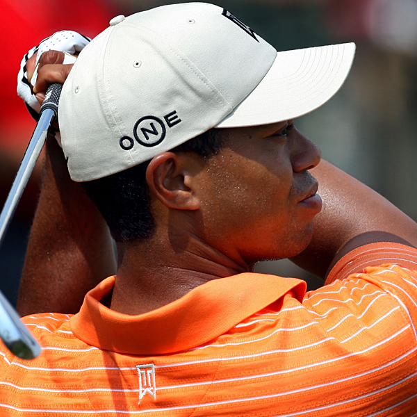 """Tiger Woods during a practice round on Wednesday. He has never played a competitive round at Oakmont, and he has grumbled about his driver this week. He did not discuss his practice round except to say, """"I broke 100."""""""