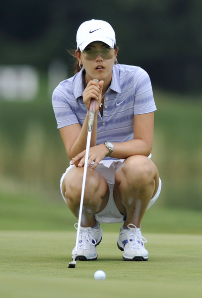 Michelle Wie made her first hole-in-one in competition on Saturday.