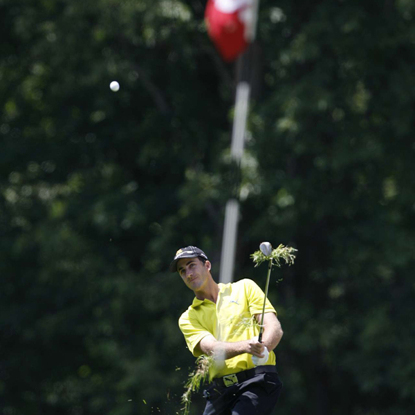 Geoff Ogilvy had a rough front nine, shooting a five-over 40.